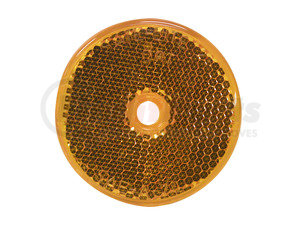 B477A by PETERSON LIGHTING - 477 Round Center-Mount Reflector - Amber