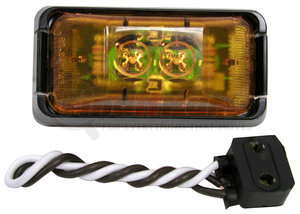 V153KA by PETERSON LIGHTING - 153 SeriesLED Clearance/Side Marker Light - Amber Kit, 2-Diode