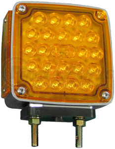 V327R by PETERSON LIGHTING - LED DOUBLE FACE PARK & TURN SIGNAL W/SIDE MARKER PASSENGER SIDE (SQUARE)