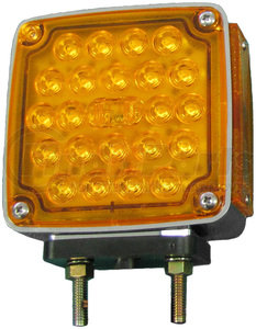 V327L by PETERSON LIGHTING - LED DOUBLE FACE PARK & TURN SIGNAL W/SIDE MARKER DRIVERS SIDE (SQUARE)