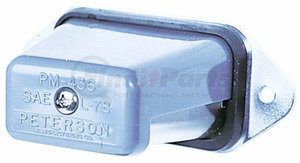 V436SX by PETERSON LIGHTING - 436X Chrome, Stud-Mount License Plate Light - Clear
