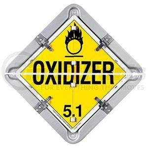 27HM206S by LABELMASTER - Aluminum / Split 17 LEGEND FLIP PLACARD SYSTEM FOR TRAILERS - SPLIT FRAME