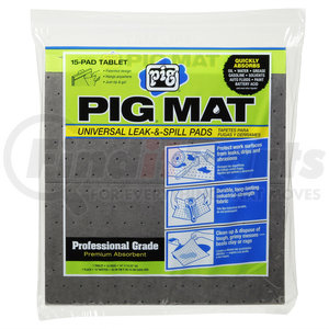 "25101 by NEW PIG CORPORATION - PIG Universal Light-Weight Absorbent Mat Tablet, 19""x15"", 15/tablet"