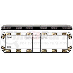 "12-20002-E by ECCO - LIGHTBAR 54"" LED 12-24VDC (AMB"