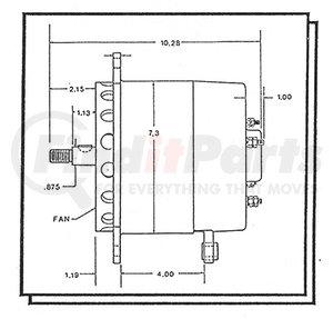"""GE100-24LC by ELECTRODYNE - 7.3"""" ALT 24V 100A"""
