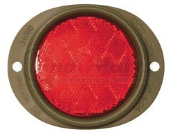 """82552-3 by GROTE - REFLECTOR, 3"""" LENS, RED, STEEL, 2-HOLE MOUNTING, GREEN HOUSING, BULK PACK"""
