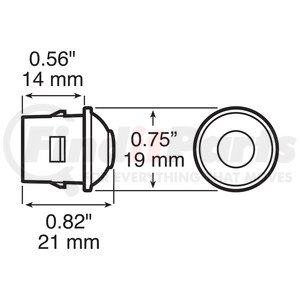 4741PK by PETERSON LIGHTING - LED DOT LIGHT ACCESSORY LIGHT PINK 12V