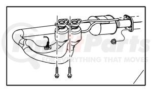 52101272AC by CHRYSLER - PIPE AND CONVERTER. Export. Exhaust. Diagram 2