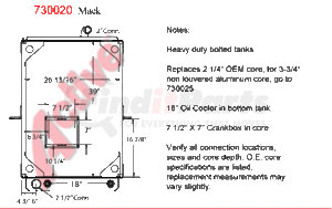 7300-20BT* by ACTIVE RADIATOR - Mack MR Model RADIATOR