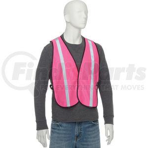 "PS1PKNB by GLOBAL INDUSTRIAL - Global Industrialâ""¢ Hi-Vis Safety Vest, 1Â¿ Reflective Strip, Polyester, Pink, One Size"