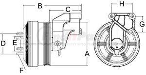 799011 by HORTON - Clutch DriveMasterSE 21 Reman,8-Pk Grv,7.50 Od