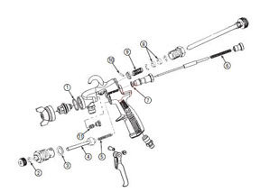 6-229 by BINKS - Model 2001 Conventional Suction Feed Gun