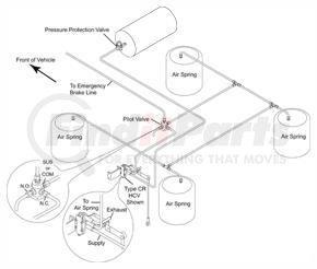 42100029 by HALDEX - Raise lower valve