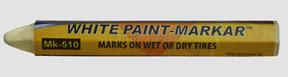 "MK-510-2 by BLACK JACK TIRE REPAIR - 1/2"" White Paint Marker (Hex)"