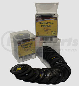 """RA-551 by BLACK JACK TIRE REPAIR - 1 3/4"""" (45mm) Round Radial Patch"""