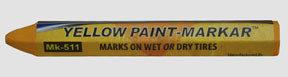 "MK-511-2 by BLACK JACK TIRE REPAIR - 1/2"" Yellow Paint Marker (Hex)"