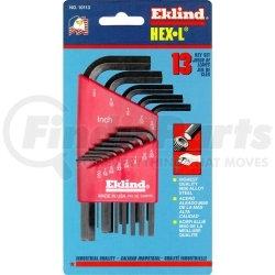 10113 by EKLIND TOOL COMPANY - 13 Piece SAE Short Hex-L™ Hex Key Set