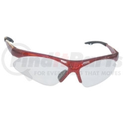 540-0000 by SAS SAFETY CORP - Red Frame Diamondbacks™ Safety Glasses with Clear Lens