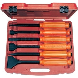 TE8800 by MID-AMERICAN TOOL INC - 6 Piece Heavy Duty Punch and Chisel Set