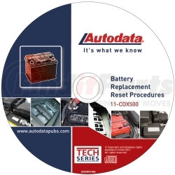 11-CDX500 by AUTODATA - 2011 Battery Replacement Reset Procedure CD