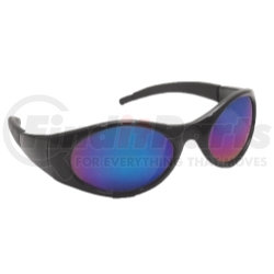5183 by SAS SAFETY CORP - Stingers High Impact Safety Glasses - Black Frames/Blue Mirrored Lens