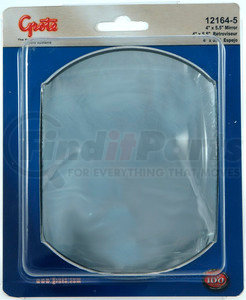 12164-5 by GROTE - Stick-On Convex Mirror, 4in. x 5 1/2in. Rectangular, Retail Pack