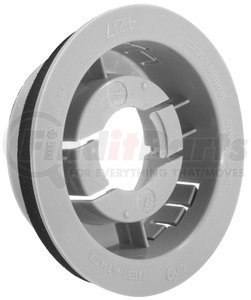 42170 by GROTE - Snap-in Mounting Flange for 2 1/2″ Round Lamps, Gray