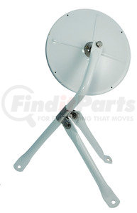 28481 by GROTE - 8 1/2″ Convex Cross-Over Mirror, White, Mirror Assembly