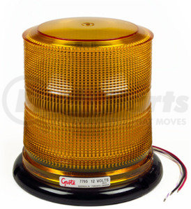 77953 by GROTE - Grote Class I LED Beacon, Yellow, High Profile, 12V