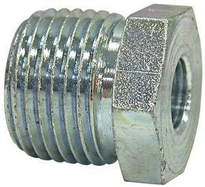 H3109X8X6 by BUYERS PRODUCTS - Reducer Bushing 1/2 Inch Male Pipe Thread To 3/8 Inch Female Pipe Thread