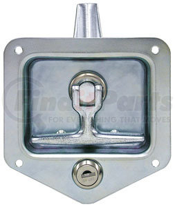 L8915 by BUYERS PRODUCTS - Stainless Single Point T-Handle Latch with Mounting Holes - Zinc Plated