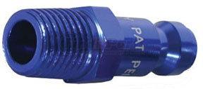 "A72440C-X by LEGACY MFG. CO. - ColorConnex Type C, 1/4"" body, 1/4"" MNPT plug, Blue Anodized"