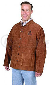9215-L by STEINER - Brown Leather Weld Jacket, Lg