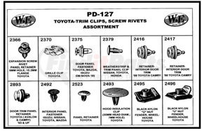 PD-127 by W & E SALES CO., INC. - Toyota-Trim Clips & Screw Rivets Assortment