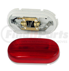 45262-3 by GROTE - Two-Bulb Oval Pigtail-Type Clearance / Marker Lamp, Red