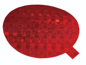 41142-3 by GROTE - Stick-On Tape Reflectors, Red
