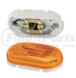 45933-3 by GROTE - Two-Bulb Oval Pigtail-Type Clearance / Marker Lamp, Yellow