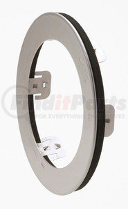 93683-3 by GROTE - Stainless Steel Snap-In Theft-Resistant Flange for 4″ Round LED Lamps, Stainless-Steel