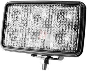 63741-5 by GROTE - Trilliant® Mini LED WhiteLight™ Work Lamp, Flood, 24V, 700 Lumens, Clear