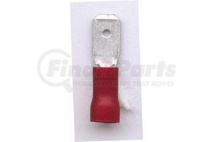 """1-53006 by PHILLIPS INDUSTRIES - Slip-On Terminal - 22-18 ga., .250"""" Male, PVC, Red, Polybag"""