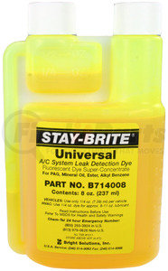 41-14008 by OMEGA ENVIRONMENTAL TECHNOLOGIES - DYE UNIVERSAL FOR R134A AND R12 8oz BOTTLE