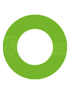 MT0234-10 by OMEGA ENVIRONMENTAL TECHNOLOGIES - 10 PK GREEN HNBR O-RING - #6 (3/8in) P-NUT