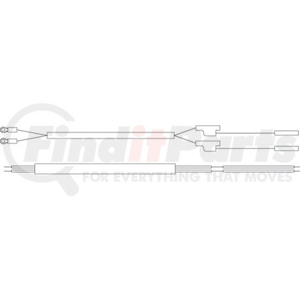 01-6621-C3 by GROTE - TRAILER WIRING, FRONT MARKER HARNESS