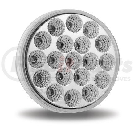 """TLED-419CR by TRUX - 4"""" Clear Red Stop, Turn & Tail 19 LED"""