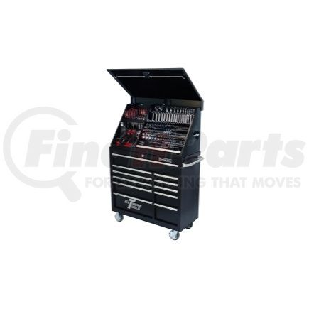 """PWSRC4118TXBK by EXTREME TOOLS - 41"""" Extreme Portable Workstation/Roller Cabinet Combo, Black"""
