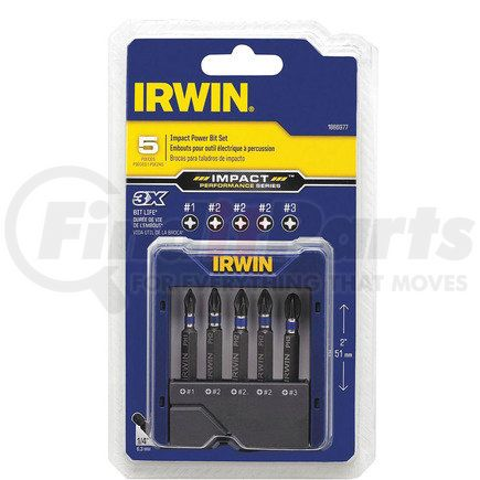 1866977 by IRWIN HANSON - 5 Pc. Impact Phillips® Power Bit Pocket Case Set