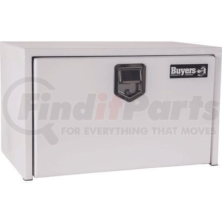 1703203 by BUYERS PRODUCTS - 14x16x30 Inch White Steel Underbody Truck Box with Paddle Latch