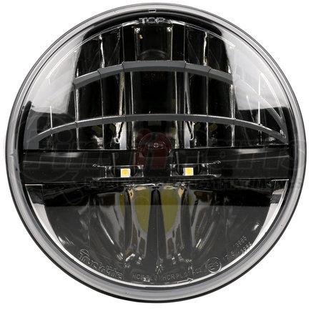 "27291C by TRUCK-LITE - ECE Left Hand Traffic, 7"" Round LED, 2 Diode Headlight, Polycarbonate Lens, Aluminum, 12-24V"
