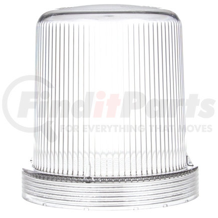 99250C by TRUCK-LITE - Round, Clear, Polycarbonate, Replacement Lens for Strobes & Beacons (92565C, 92568C, 92592Y), Threaded Fit