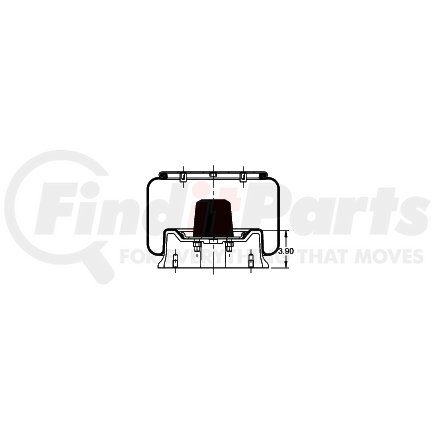 AS-8414 by TRIANGLE SUSPENSION SYSTEMS CO. - Triangle Air Spr - Rolling Lobe, Triangle Bellows # 6417, ContiTech Bellows # 11 10.5-15